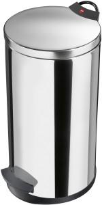 Hailo T2 L Tret-Abfallsammler, 19 l, Verzinkter Inneneimer, Anti-Vakuum-Effekt, Edelstahl