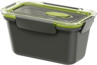 EMSA Bento Box - Lunchbox, rechteckig, Ideal für kleine Mahlzeiten außer Haus, Fassungsvermögen: 900 ml, Farbe: grau / grün