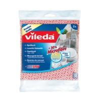 Vileda Spültuch +30% Microfaser, für ein verbessertes Reinigungsergebnis, 1 Packung = 2 Stück