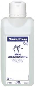 Bode Manusept® basic Hände-Desinfektionsmittel, Ethanol-Basis, farbstoff- und parfümfrei, 500 ml - Flasche