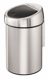 Brabantia Touch Bin, 3 l, für Bad und WC, matt steel - Fingerprint Proof