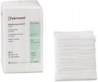 Fuhrmann Mullkompressen unsteril, Verbandmull 17-fädig aus Baumwolle, DIN EN 14079, 1 Packung = 100 Stück, 7,5 x 7,5 cm