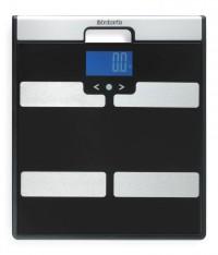 Brabantia Körperanalyse-Waage, Waage mit Tagebuch, Farbe : schwarz/grau