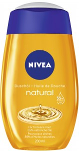 NIVEA® Body Cleansing Duschöl Natural Oil, Für trockene Haut mit 55 % natürlichen Ölen, 200 ml - Flasche