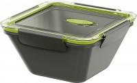 EMSA Bento Box - Lunchbox, quadratisch, Ideal für kleine Mahlzeiten außer Haus, Fassungsvermögen: 1500 ml, Farbe: grau / grün