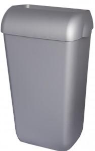 Abfallbehälter, Kunststoff, Inhalt: 25 Liter, mit Deckel, Farbe: satiniert
