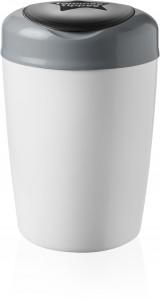 Sangenic Simplee Windeleimer, Für eine einfache und schnelle Windelentsorgung, Farbe: weiß / grau