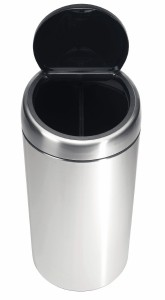 Brabantia Twin Bin, mit 2 Kunststoffeinsätzen 20 l, matt steel Fingerprint Proof