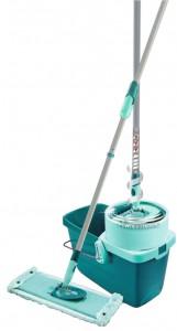 Leifheit AG LEIFHEIT CleanTwist Set extra soft, Komplettset mit Wischtuchschleuder & Bodenwischer, Set CleanTwist, Wischbreite: 33 cm 52014