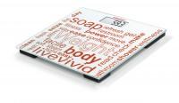SOEHNLE Personenwaage Jolly digital , Digitale Glas-Mini-Waage, Idealer Reisebegleiter, Farbe: weiß gemustert, Maße: 25 x 25 cm