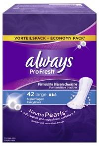 Always Slipeinlage ProFresh Large, Länger und breiter für besseren Schutz, 1 Packung = 40 Stück