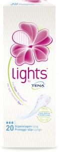 LIGHTS by TENA Slipeinlagen Long, Die etwas längeren Slipeinlagen für mehr Sicherheit und Frische, 1 Packung = 20 Slipeinlagen, Länge: 21 cm