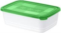 Rotho FREEZE Gefrierdose, Frischhaltedose aus Kunststoff, 3,7 Liter, porcelain/ pine grün