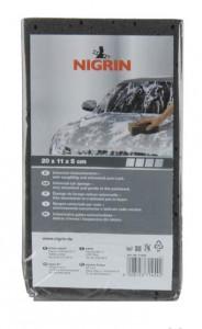 NIGRIN Universal-Autoschwamm, Universell einsetzbar zum Waschen, Größe: 20 x 11 x 5 cm