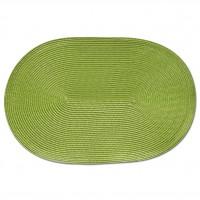 Zeller Platzset oval, 46 x 30 cm, Deko und Schutz vor Beschmutzung und Beschädigung, Farbe: grün