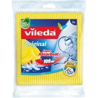 Vileda Schwammtuch Aqua Original Super Absorbent, mit verbesserter Saugkraft, 1 Packung = 5 Tücher, Maße = 18 x 20 cm