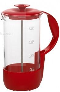 EMSA NEO Kaffeebereiter, Bestes Brühergebniss für ca. 8 Tassen, Farbe: Rot