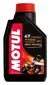 Motul Deutschland GmbH Motul Motorenöl 7100 4T 15W50, mit speziellen Additiven f. die Getriebeschmierung, 1000 ml - Kanister 104298