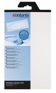 Brabantia Bügeltischbezug E, Filzauflage, weiß, 135 x 49 cm