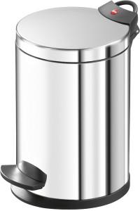 Hailo T2 S Tret-Kosmetikeimer, 3 l, Mit verzinktem Inneneimer & flachem Deckel, Edelstahl