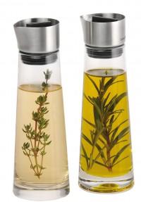 Blomus Essig & Öl Set ALINJO, Eignet sich gut zum Würzen bei Tisch, Volumen: jeweils 180 ml
