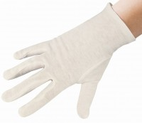 Meditrade Unterzieh-Zwirnhandschuh aus reiner Baumwolle, Unterziehhandschuh für Einmalhandschuhe bzw. als Schutz bei Allergien, 1 Karton = 30 x 10 = 300 Paar, Größe 10