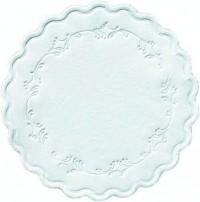 DUNI Tassen- und Glasuntersetzer aus Zellstoff, 8-lagig, Ø 9 cm, rund, Romance weiß, 1 Karton = 8 x 250 Stück = 2000 Untersetzer