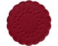 DUNI Tassen- und Glasuntersetzer aus Zellstoff, 8-lagig, Ø 7,5 cm, rund, bordeaux, 1 Karton = 12 x 250 Stück = 3000 Untersetzer