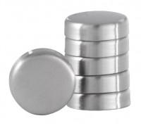 Blomus Magnete MURO, Aus hochwertigem Edelstahl, 1 Set = 6 Stück, Ø 2,5 cm