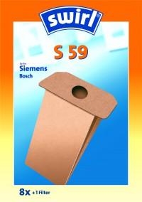 Swirl S 59, 1 Packung = 8 Stück, für Siemens/Bosch Typ S 59