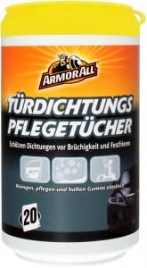 ARMOR ALL Türdichtungs-Pflegetücher, halten Gummidichtungen elastisch, 1 Dose = 20 Tücher