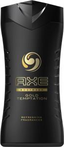 AXE Duschgel für Männer, Erfrischt und spendet Feuchtigkeit, in aufregenden Düften, 250 ml - Flasche, Gold Temptation