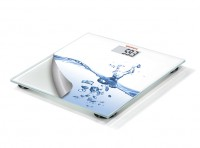 SOEHNLE Personenwaage Mix & Match Water, Digitale Glas-Personenwaage, Farbe: weiß
