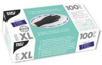 Papstar Einmalhandschuhe aus Nitril, für Latexallergiker geeignet, Farbe: schwarz, 1 Packung = 100 Handschuhe, Größe: XL