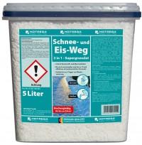 HOTREGA® Schnee- und Eis-Weg 2 in 1, Multifunktionelles Enteisungs-Granulat, 5 l - Eimer