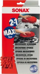 SONAX Microfaser Schwamm, Für die besonders gründliche Autowäsche, 1 Schwamm im Maxiformat