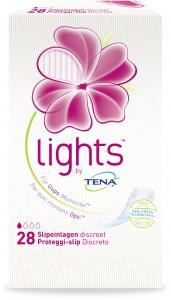 LIGHTS by TENA Diskrete Slipeinlagen, Schutz vor Feuchtigkeit, Gerüchen und Flüssigkeitsverlust, 1 Packung = 28 Slipeinlagen, Länge: 15 cm