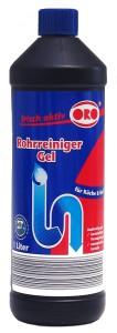 ORO® frisch-aktiv Rohrreiniger Gel, löst organische Stoffe und beseitigt Verstopfungen, 1000 ml - Flasche