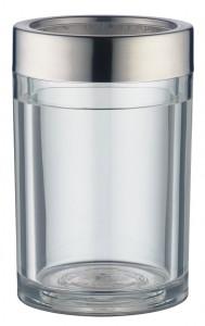 Alfi Aktiv-Flaschenkühler Crystal, Mit doppelwandigem Acryl-Körper für 0,7 l und 1,0 l Flaschen, Farbe: weiß