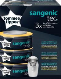 Nachfüllkassetten für Sangenic tec Windeltwister, Zitrus, Mehrschichtige Folie mit antibakteriellem Schutz, 1 Packung = 3 Kassetten