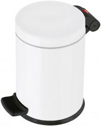 Hailo ProfiLine Solid S Tret-Kosmetikeimer, Der bewährte Qualitäts-Kosmetikeimer mit strapazierfähigem Flachdeckel, Stahl, weiß - Inneneimer, verzinkt, 3 l