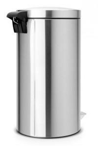 Brabantia Twin Treteimer 20/20 l, mit zwei Kunststoffeinsätzen, matt steel fingerprint proof