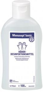 Bode Manusept® basic Hände-Desinfektionsmittel, Ethanol-Basis, farbstoff- und parfümfrei, 100 ml - Flasche