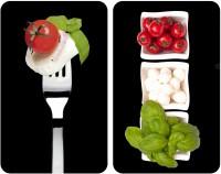 WENKO Universal Herdabdeckplatte, 2er Set, 2er Kochfeldabdeckungs-Set für Glaskeramik-, Elektro- und Gasherde, Design: Caprese