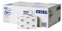SCA Hygiene Products GmbH Tork Premium Handtuchpapier 21 x 34 cm, 2-lagig, Interfold, hochweiß, Extra weich, Karton = 21 Bündel x 100 = 2.100 Tücher 100297