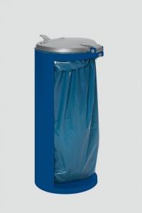 VAR GmbH VAR Abfallsammler Kompakt-Junior, für 120 Liter Säcke, für den Außenbereich, Farbe: enzianblau