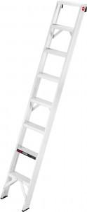Hailo ProfiLine A 250 Profi-Anlegeleiter, Die extrem stabile Profi-Anlegeleiter, belastbar bis 250 kg, 8 tiefe rutschsichere profilierte Stufen