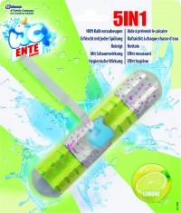 WC-Ente Multi Aktiv WC-Spüler 5 in 1, Erfrischt und Reinigt mit jeder Spülung, 1 Packung = 1 Stück à 41 g, Limone