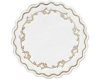 DUNI Tassen- und Glasuntersetzer aus Zellstoff, 8-lagig, Ø 9 cm, rund, Romance gold, 1 Karton = 8 x 250 Stück = 2000 Untersetzer