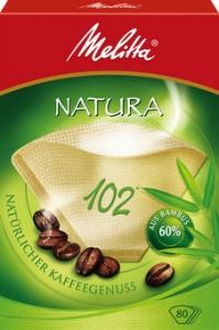 Melitta Haushaltsprodukte GmbH & Co. KG Melitta Filtertüten Premium 102/80, natura, 1 Packung = 80 Stück 4006508191147